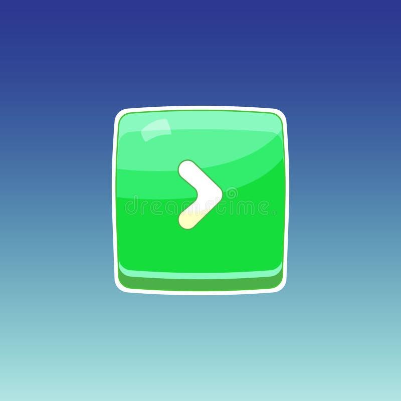 Grüner Knopf des Spiels lizenzfreie abbildung