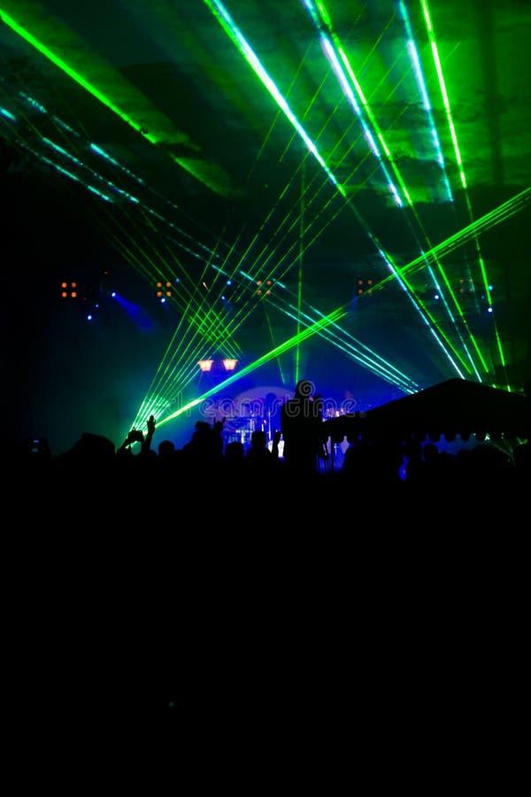 Grüner Laser stockbilder