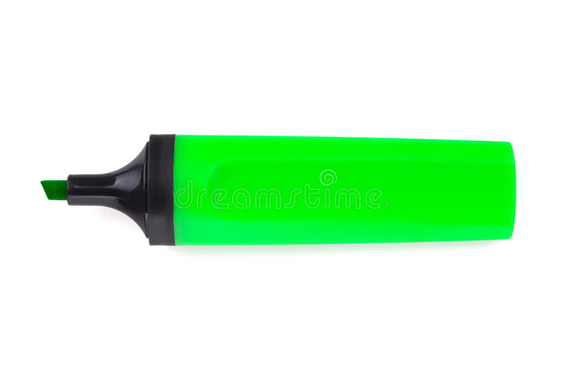 Grüner Leuchtmarker stockfotos