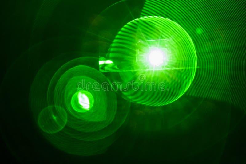 Grüner Lichteffekt der Birne stockfotografie