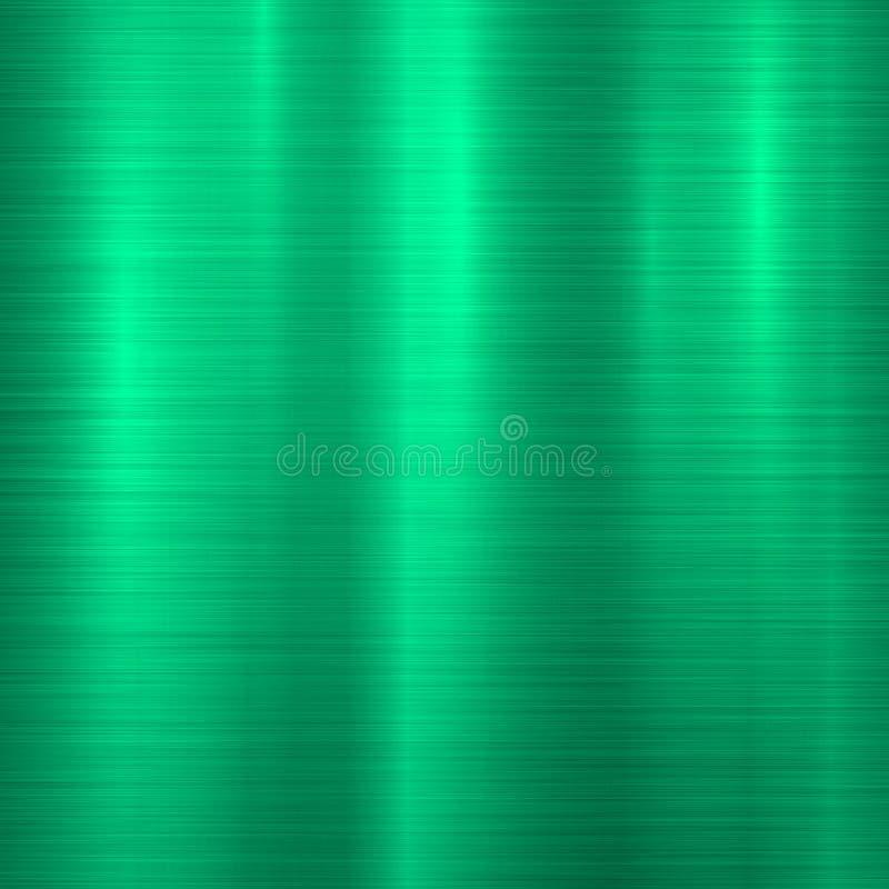 Grüner Metalltechnologie-Hintergrund stock abbildung