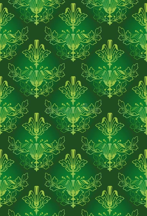 Grüner Muster-Hintergrund lizenzfreie abbildung