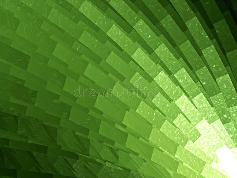 Grüner Musterauszug stock abbildung