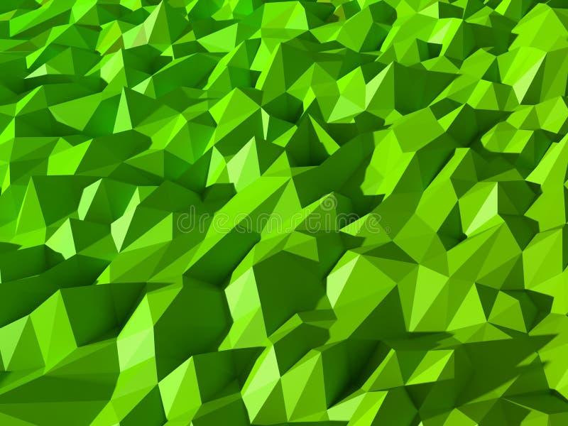 Grüner niedriger abstrakter Polyhintergrund stockbilder