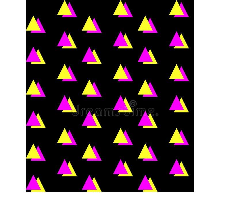 Grüner orange halber quadratischer nahtloser Hintergrund lizenzfreie stockbilder