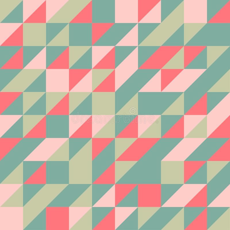 Grüner orange halber quadratischer nahtloser Hintergrund Trianble lizenzfreie stockbilder