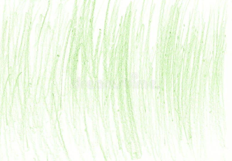 Grüner organischer natürlicher Hintergrund mit eco Bleistiftschmutz-Holzkohlenbeschaffenheit lizenzfreie stockfotografie