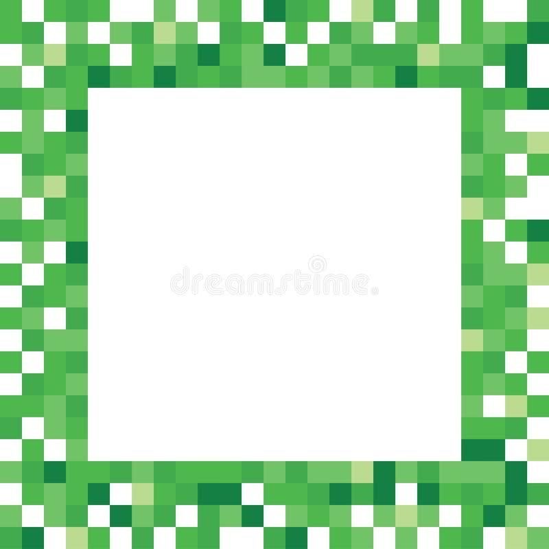 Grüner Pixel-Rahmen lizenzfreie abbildung
