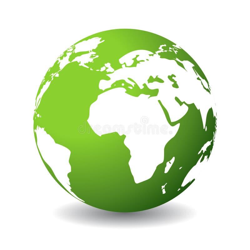 Grüner Planet lizenzfreie abbildung