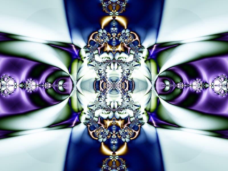 Grüner purpurroter abstrakter Fractal-Hintergrund stock abbildung