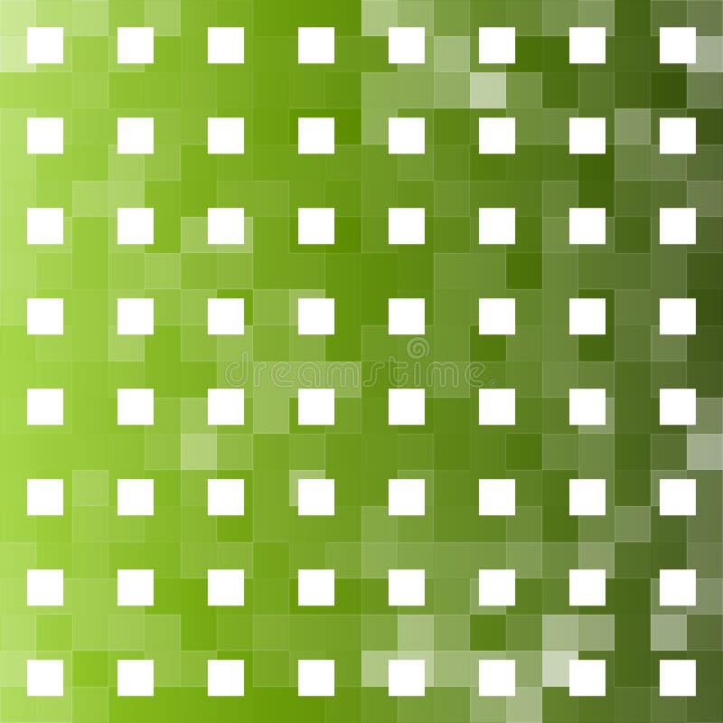 Grüner quadratischer abstrakter Hintergrund lizenzfreie abbildung