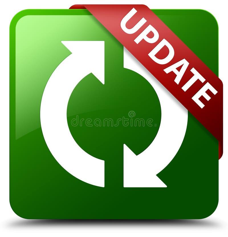 Grüner quadratischer Knopf der Aktualisierung stock abbildung