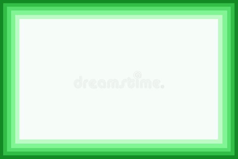 Grüner Rand lizenzfreie abbildung