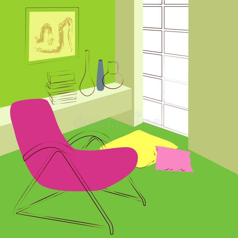 Grüner Raum stock abbildung