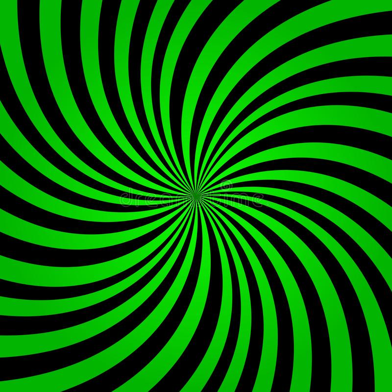 Grüner Regenbogenstrahlnhintergrund Grüne Farbexplosions-Hintergrundvektor eps10 Grüner und schwarzer Strahlnhintergrund lizenzfreie abbildung