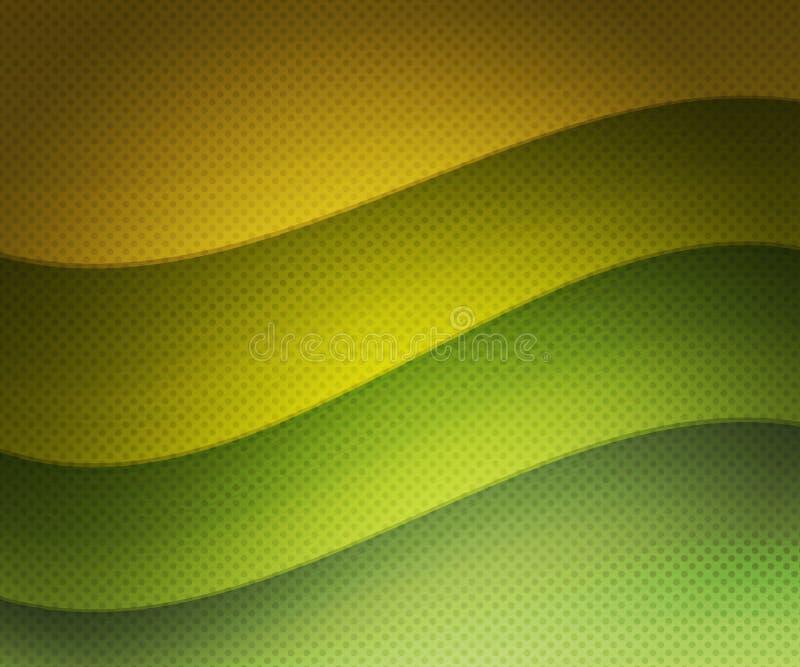 Download Grüner Retro- Wellenförmiger Hintergrund Stock Abbildung - Illustration von verzierung, elegant: 26372872