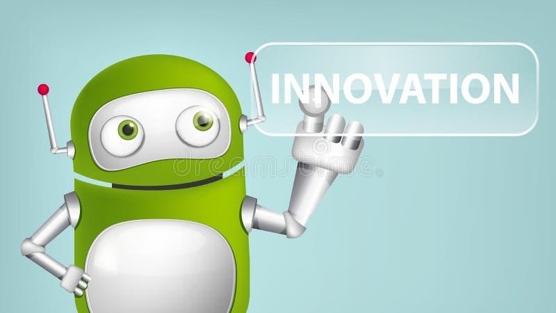 Grüner Roboter lizenzfreie abbildung