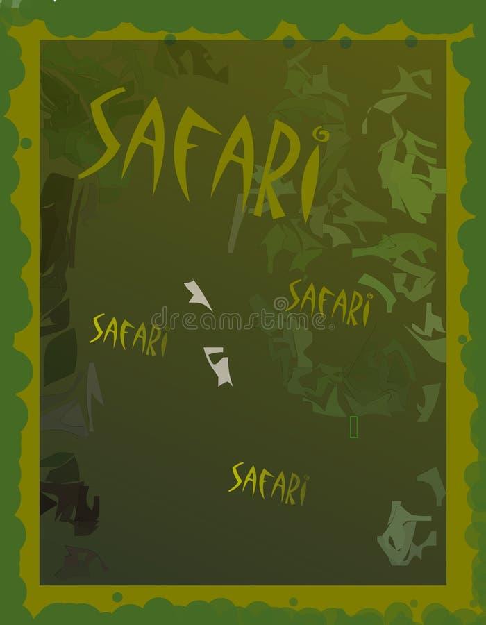 Grüner Safarihintergrund lizenzfreies stockfoto