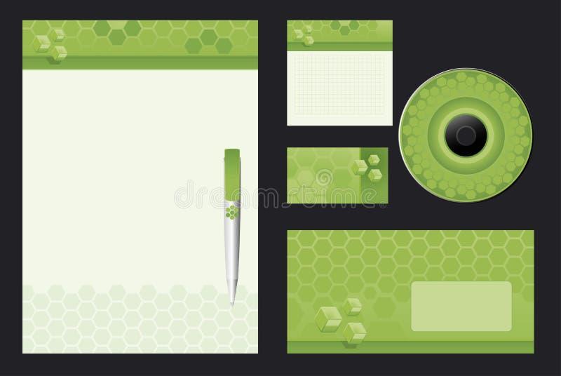 Grüner Schablonenhintergrund lizenzfreie abbildung