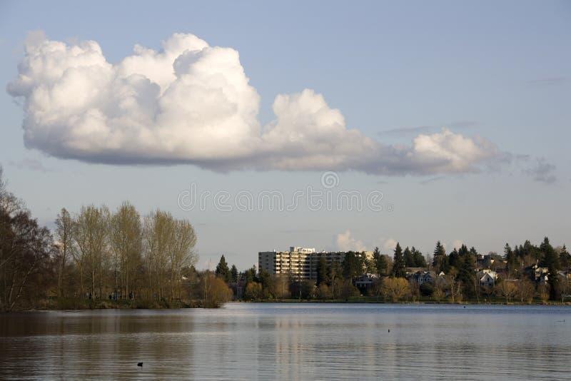Grüner See Seattle lizenzfreie stockbilder