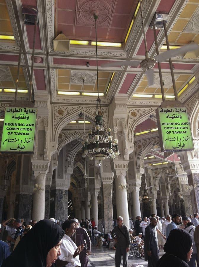 Grüner Signage innerhalb des Masjid Als Haram lizenzfreie stockfotos