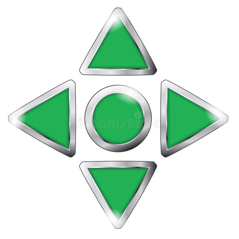 Grüner Spielknopf stock abbildung