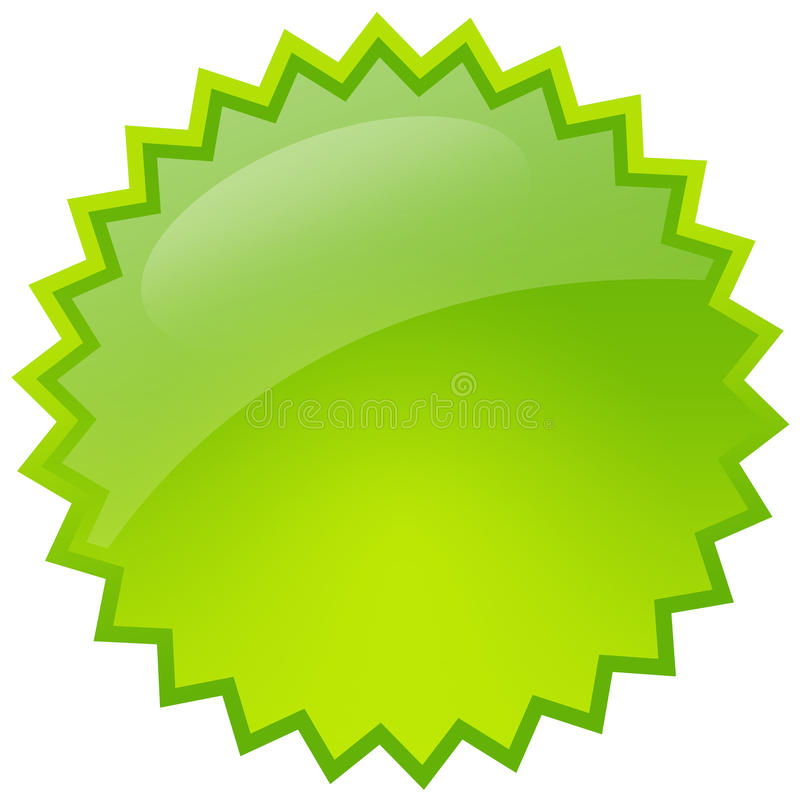 Grüner Spritzenstern stock abbildung