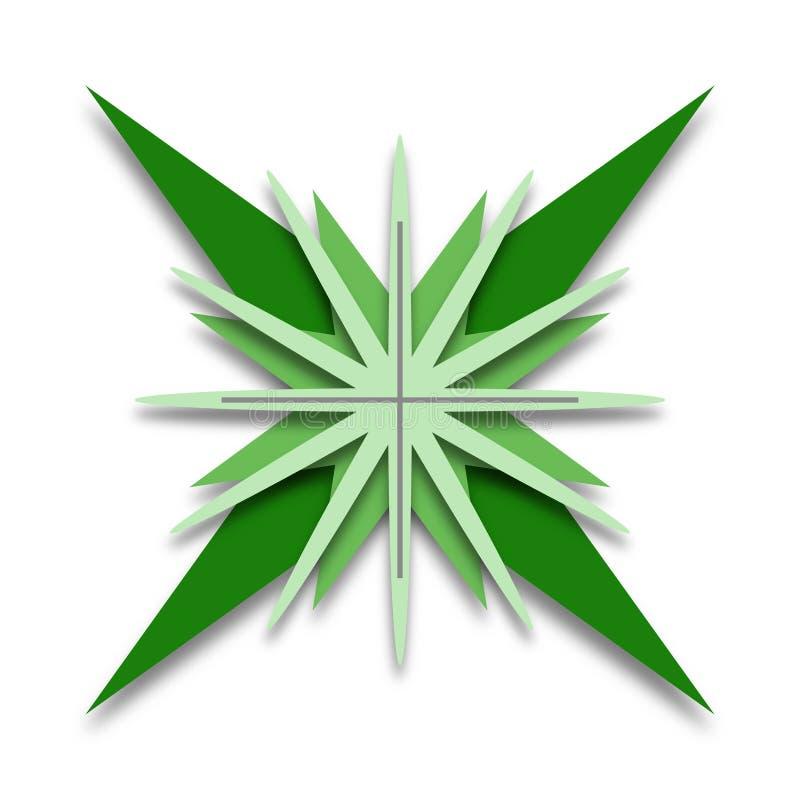 Grüner sternförmiger Logo Design lizenzfreie stockfotografie