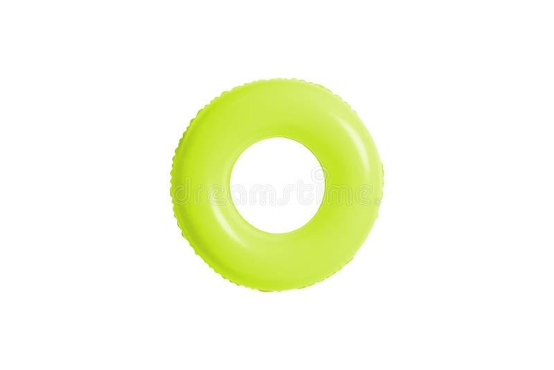 Grüner Swimmingpoolring lokalisiert auf Weiß lizenzfreie stockfotografie