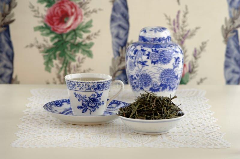 Grüner Tee Chinas, Nahaufnahme lizenzfreies stockbild