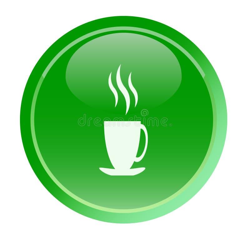 Grüner Tee der Taste vektor abbildung