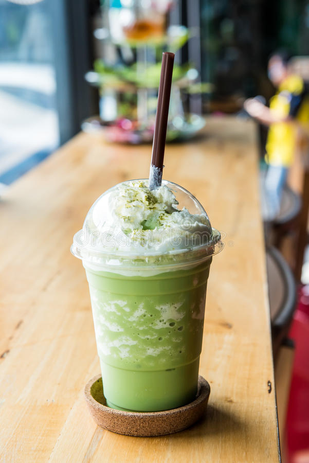 Grüner Tee frappe lizenzfreies stockfoto