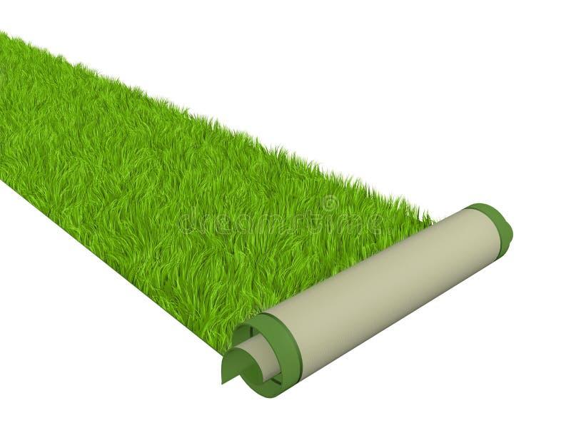 Grüner Teppich stock abbildung