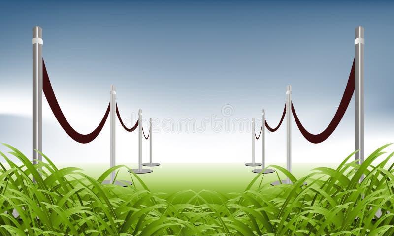 Grüner Teppich lizenzfreie abbildung