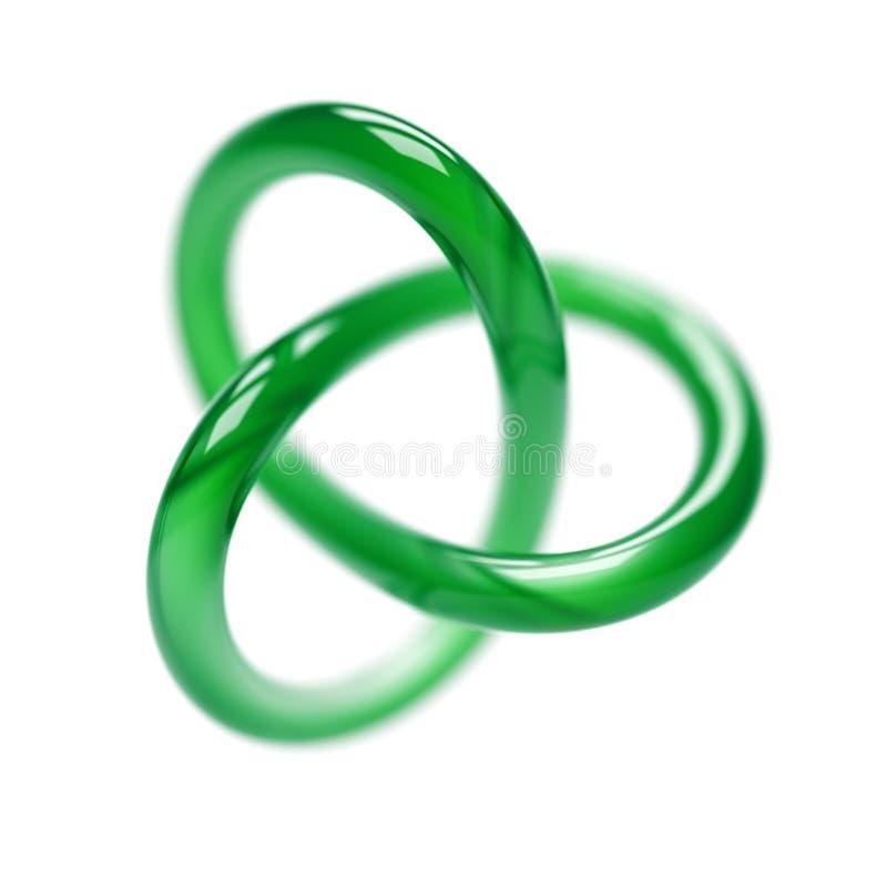 Grüner Torus lizenzfreie abbildung