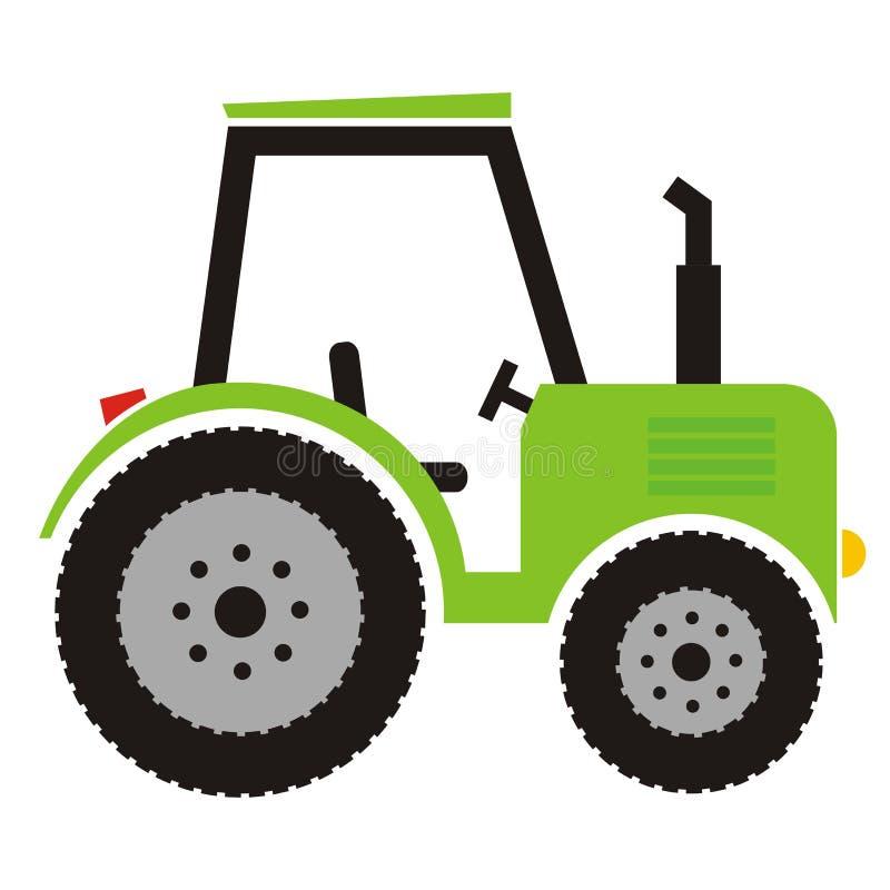 Grüner Traktor vektor abbildung