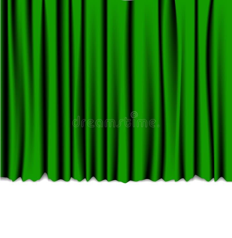 Grüner Trennvorhang vom Theater lizenzfreie abbildung
