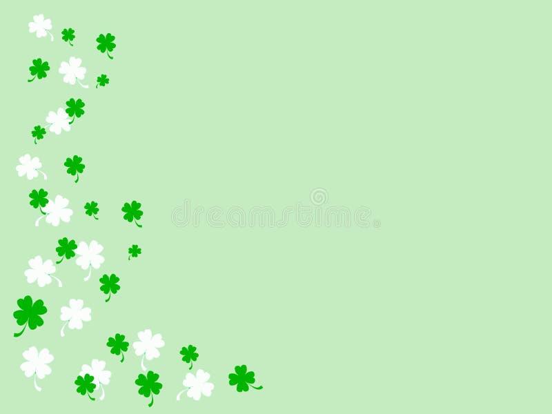 Grüner u. weißer irischer Hintergrund stockfotos