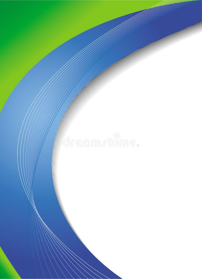 Grüner und blauer abstrakter Hintergrund stock abbildung