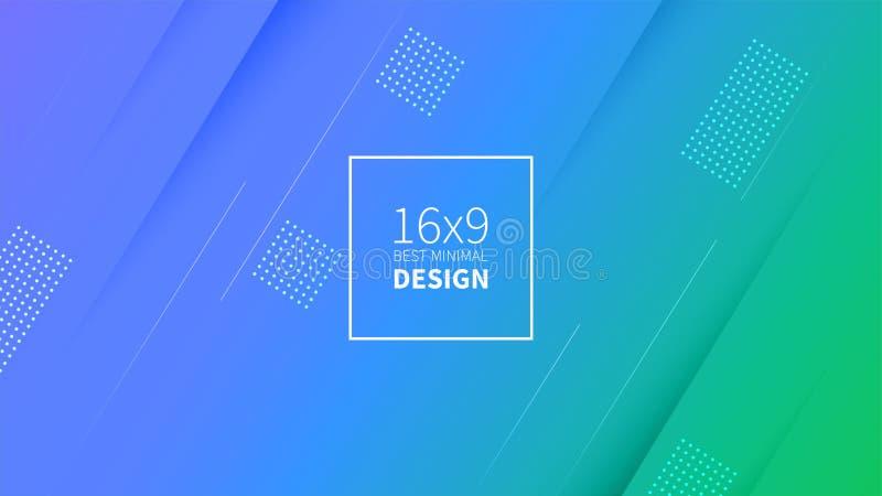 Grüner und blauer Hintergrund des futuristischen Designs Schablonen für Plakate, Fahnen, Flieger, Darstellungen und Berichte Mini stock abbildung