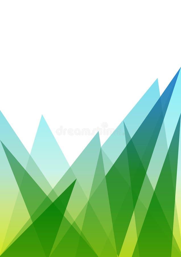 Grüner und blauer Steigungs-Hintergrund mit niedrigem Polymuster lizenzfreie abbildung