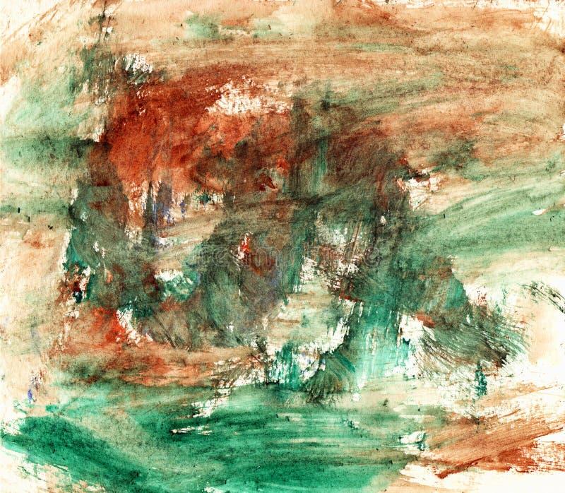Grüner und brauner künstlerischer Hintergrund lizenzfreie stockbilder