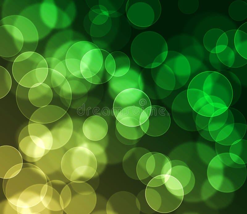 Grüner und gelber farbiger bokeh Hintergrund lizenzfreie stockfotos