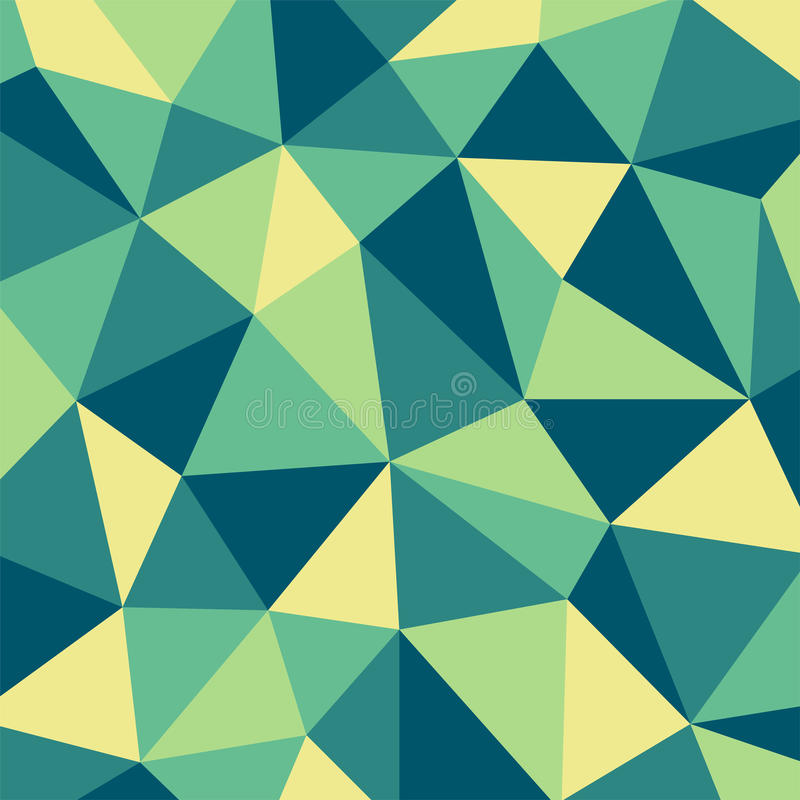 Grüner und gelber Polygonmosaikmusterhintergrund lizenzfreie abbildung