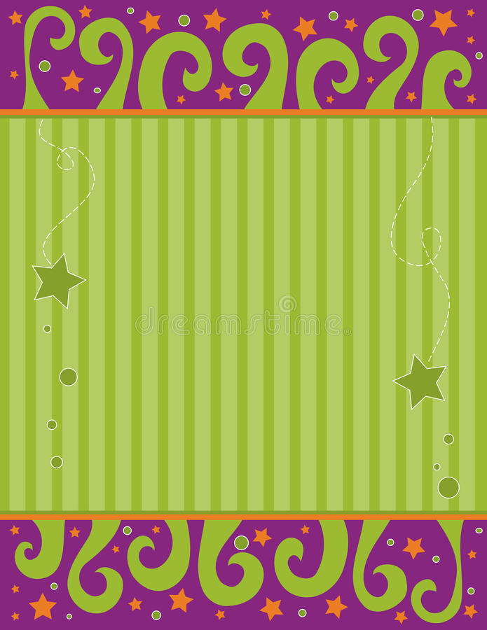 Grüner und lila Hintergrund mit Rotationen stock abbildung