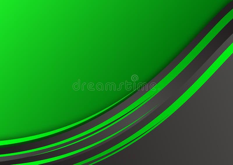 Grüner und schwarzer geometrischer abstrakter Vektorhintergrund mit Kopienraum stock abbildung