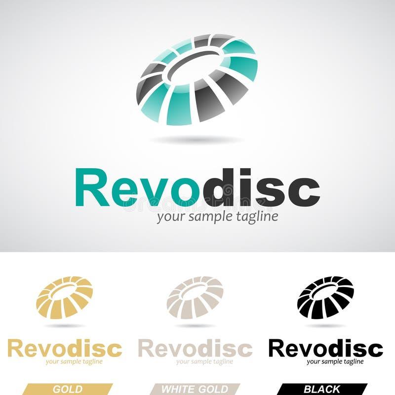 Grüner und schwarzer runder glatter rotierender Logo Icon stock abbildung
