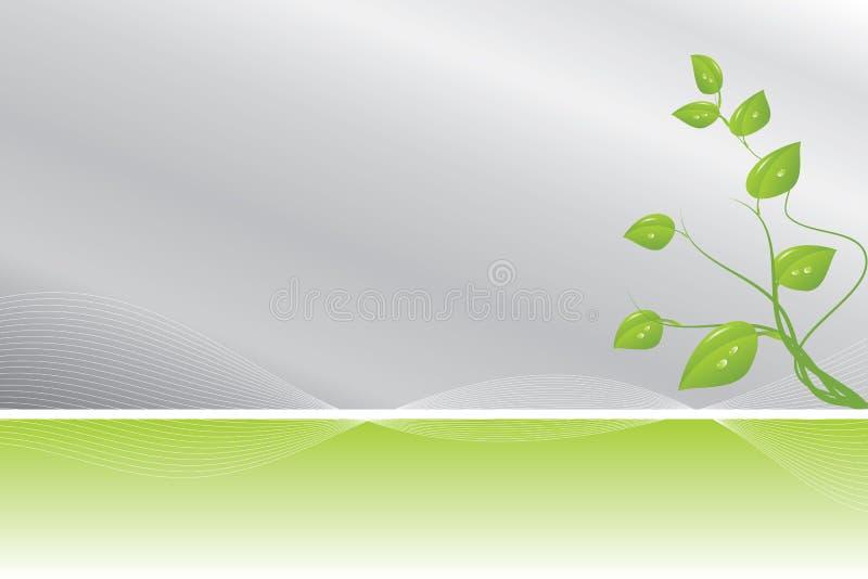 Grüner und silberner Hintergrund vektor abbildung