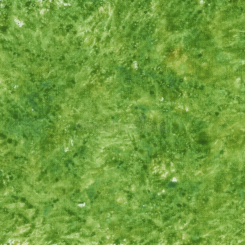 Grüner uneinheitlicher Auszug auf Segeltuch stockfoto
