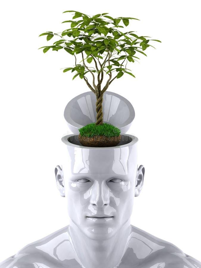 Grüner Verstand stock abbildung